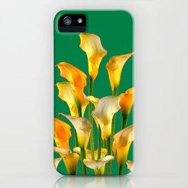DECORATIVE GREEN ART GOLDEN CALLA LILIES iPhone Case