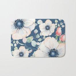 Summer Flowers Blue #society6 #buyart Bath Mat