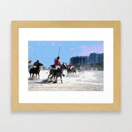 Polo Ponies on Miami Beach Framed Art Print