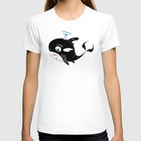 killer whale T-shirts featuring Killer Whale & Fish by markmurphycreative
