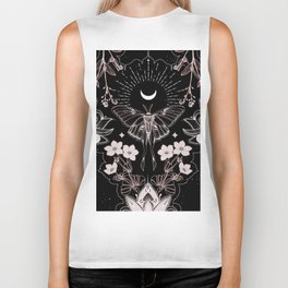 Bohemian Luna Moth On Black Biker Tank