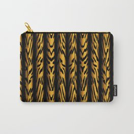 Brown Tiger Stripe Carry-All Pouch