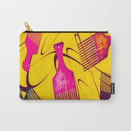 Afro Comb-Orange Carry-All Pouch