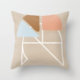 Geometric terracota Throw Pillow
