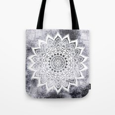 BOHO WHITE NIGHTS MANDALA Tote Bag