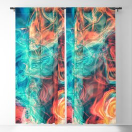 Colorful smoke Blackout Curtain