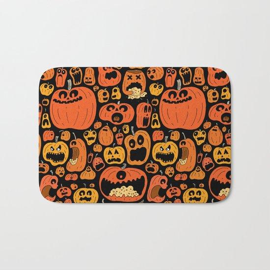 Pumpkin Pattern Bath Mat