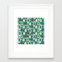 feathers Framed Art Prints featuring Feathers by Kakel