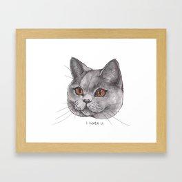 I hate u Framed Art Print