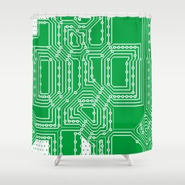 Computer board pattern Shower Curtain