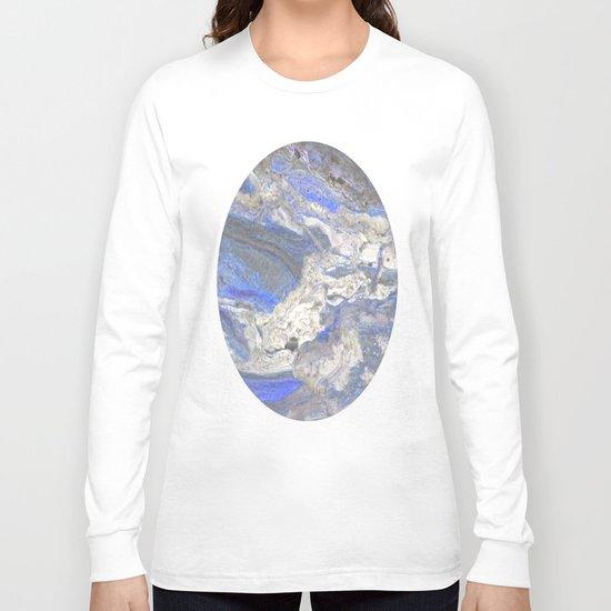 Arabescato-Orobico-Blue-Marble Long Sleeve T-shirt