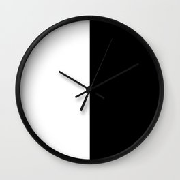 Just Black and White Wall Clock