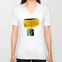 wisconsin V-neck T-shirts featuring Hello Wisconsin by Josh Franke
