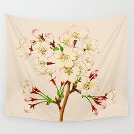 Yoshino Cherry Blossoms ~ Vintage Japan Art Wall Tapestry
