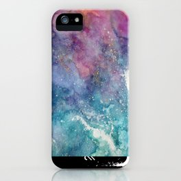 Celestial Ocean Abstract iPhone Case