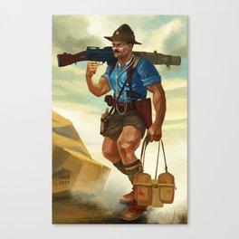 WWI Era Soldier of the New Zealand Māori Pioneer Battalion Canvas Print