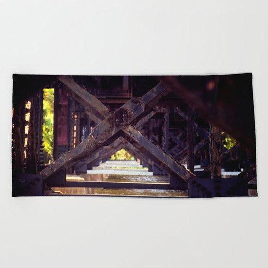 Rusty Bridge Beach Towel
