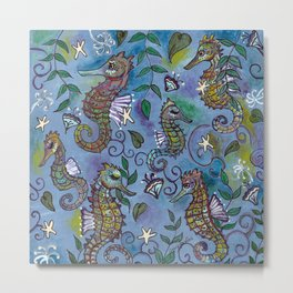 Oh, the Quiet Beauty of the Seahorse Metal Print