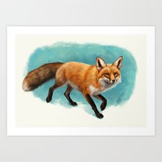 Fox walk Art Print