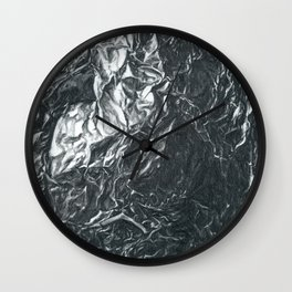 Foil Drawing | Abstract Landscape Wall Clock