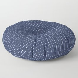 Lines / Navy Floor Pillow