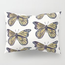 Gold Butterfly Pillow Sham