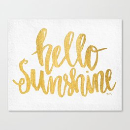 Hello Sunshine by Misty Diller Canvas Print