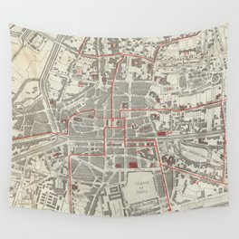 Vintage Map of Rennes France (1905) Wall Tapestry