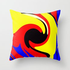 Bold Abstract Throw Pillow