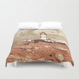 Lighthouse, Faro Ses Salines Duvet Cover