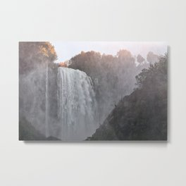 Panoramic view of the Marmore falls, Umbria, Italy Metal Print