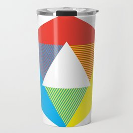 Color Wheel print, Color Chart Rainbow design by Christy Nyboer / Little Lark Travel Mug