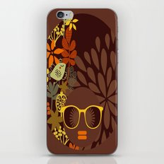 Afro Diva : Sophisticated Lady Retro Brown iPhone & iPod Skin