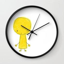 yellow dood Wall Clock