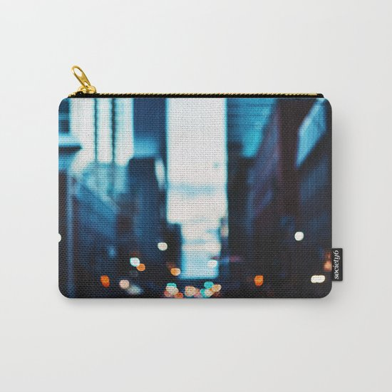 Blurred City Lights Carry-All Pouch
