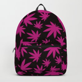 Weed Leaf Pattern  Backpack