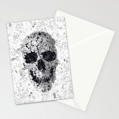 Doodle Skull BW Stationery Cards