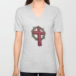 The Cross Represents the Death of Jesus Unisex V-Neck