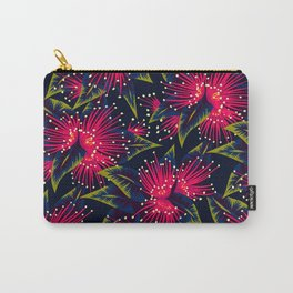 New Zealand Rata floral print (Night) Carry-All Pouch