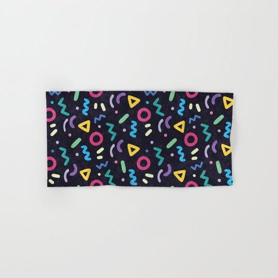 Black Memphis Pattern  Hand & Bath Towel