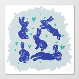 Bunny love - Blueberry edition Canvas Print