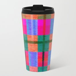 Beautiful multicolor tartan Travel Mug