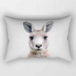 Kangaroo - Colorful Rectangular Pillow