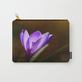 Bright Purple Spring Crocus Carry-All Pouch