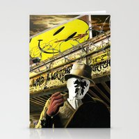 watchmen Stationery Cards featuring Who Watches The Watchmen? by SB Art Productions