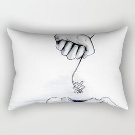 And I Will Raise Him Up At The Last Day Rectangular Pillow