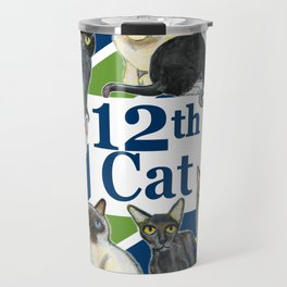 12th Cat Travel Mug