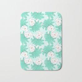 Fern-tastic Girls in Teal Bath Mat