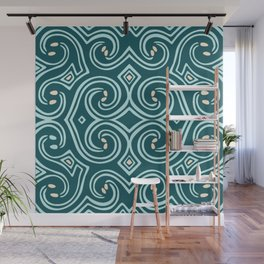 Svortices (Blue) Wall Mural