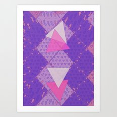 Triangular Love Art Print